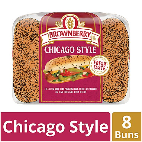 Brownberry Hot Dog Buns Chicago Style - 8 Count