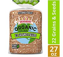 Brownberry Organic Bread 22 Grains & Seeds - 27 Oz