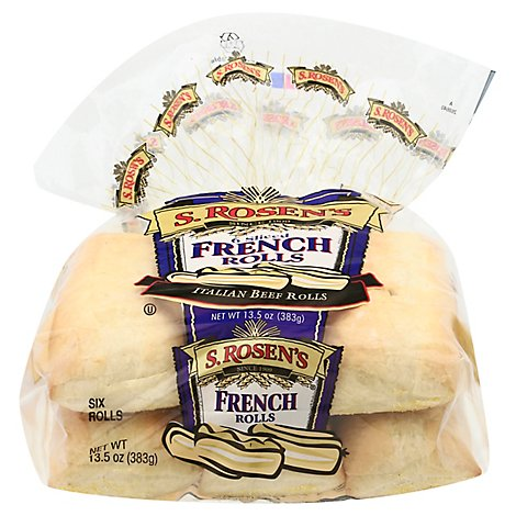 S.Rosens French Rolls - 6 Count