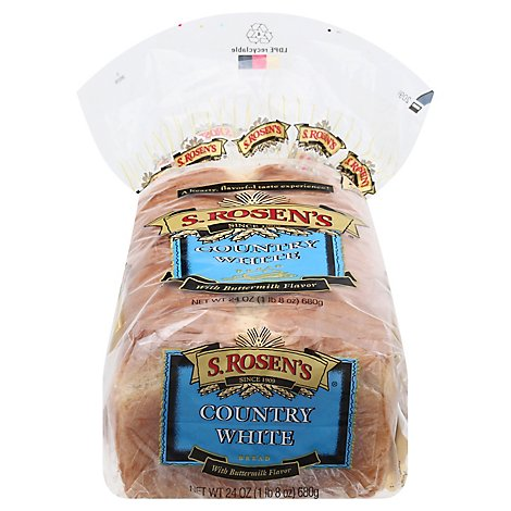S.Rosens Country White Bread - 24 Oz