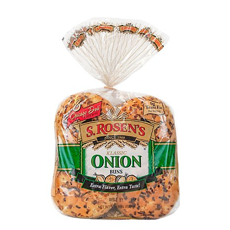 S.Rosens Onion Buns - 8 Count