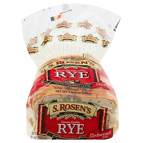 S.Rosens Seeded Rye Bread - 24 Oz