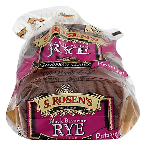S.Rosens Black Bavarian Rye Bread - 24 Oz