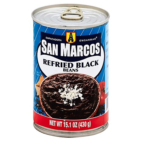 San Marcos Refried Black Beans - 16 Oz