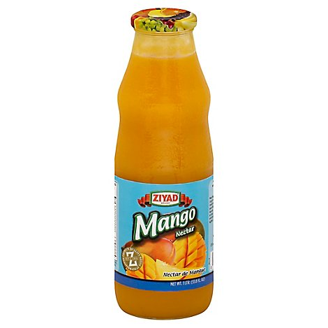 Ziyad Glass Mango Drink - 35 Oz