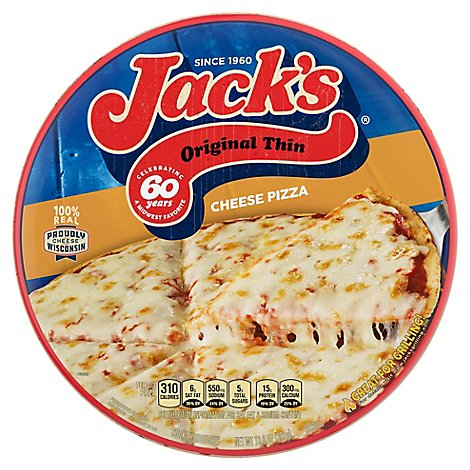 Jacks Pizza Original Cheese 12 Inch Frozen - 14.5 Oz