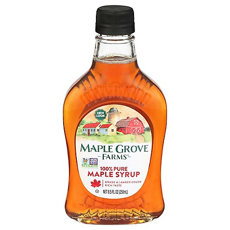 Maple Grove Farms Maple Syrup 100% Pure Amber - 8.5 Oz