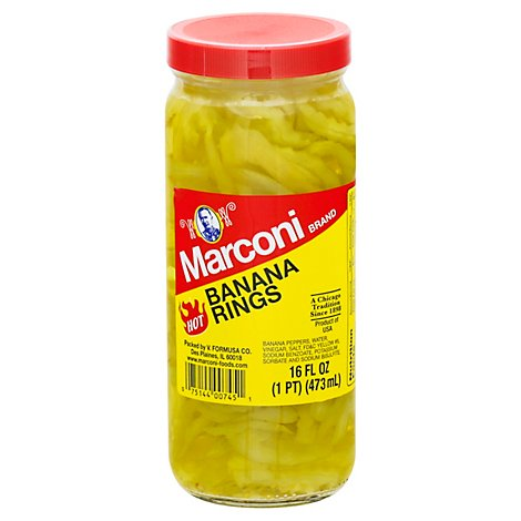 Marconi Banana Pepper H - 16 Oz