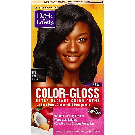 D&L Hair Color Gloss Rich Blk - 1 Each