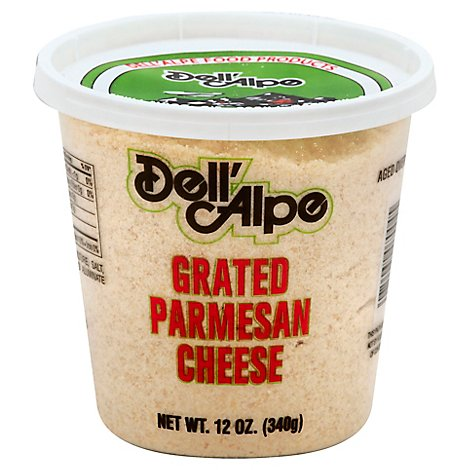 Dellalpe Grated Parmesan Cheese - 12 Oz