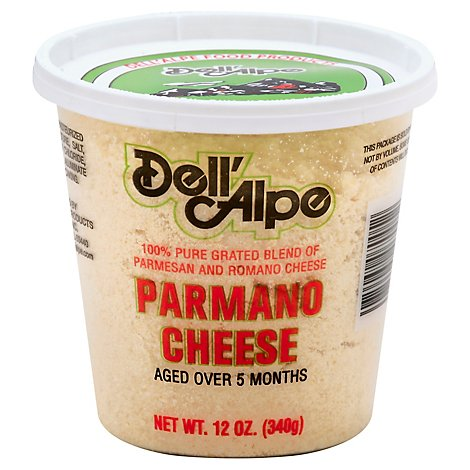Dellalpe Grated Parmesan Romano Cheese - 12 Oz