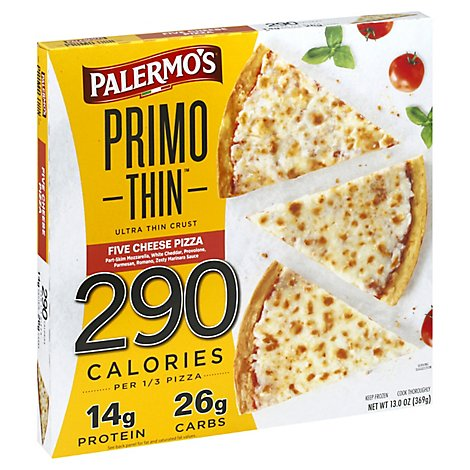 Palermos Pizza Thin Crust Ow 6 Cheese Frozen - 13 Oz