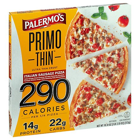Palermos Pizza Primo Thin Sausage Frozen - 18.1 Oz