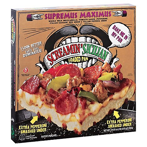 Screamin Sicilian Pizza Lp Frozen - 24.65 Oz