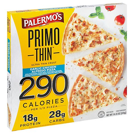 Palermos Primo Pizza Thin Chicken Alfredo Frozen - 14.45 Oz