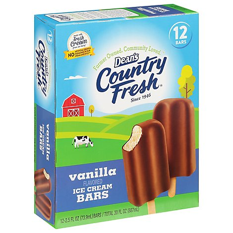 Deans Country Fresh Ice Cream Bar - 12 Count