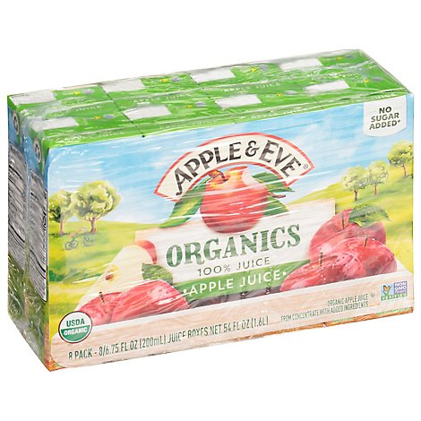 Apple & Eve Organics 100% Apple Juice - 8 - 6.75 Fl. Oz.