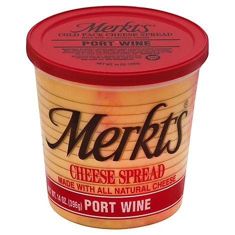Merkts Port Wine Spreadable Cheese Cup - 14 Oz.
