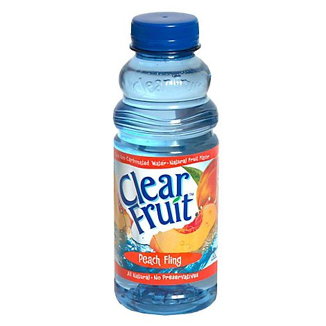 Clear Fruit Flavored Water Peach Fling - 20 Fl. Oz.