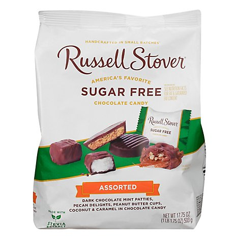 Russell Stover Candy Chocolate Sugar Free Assorted - 17.75 Oz