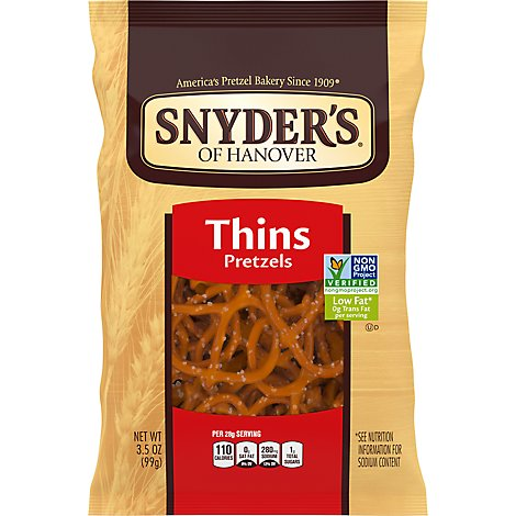 Snyders of Hanovers Thin Pretzels - 3.5 Oz