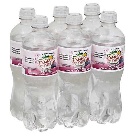 Canada Dry Seltzer Triple Berry - 6-.5 Liter