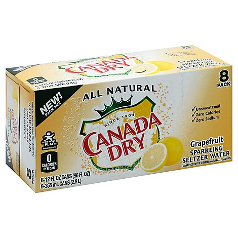 Canada Dry Green Tea Ginger Ale - 8-12 Fl. Oz.