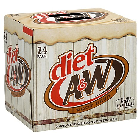 A&W Diet Root Beer - 24-12 Fl. Oz.