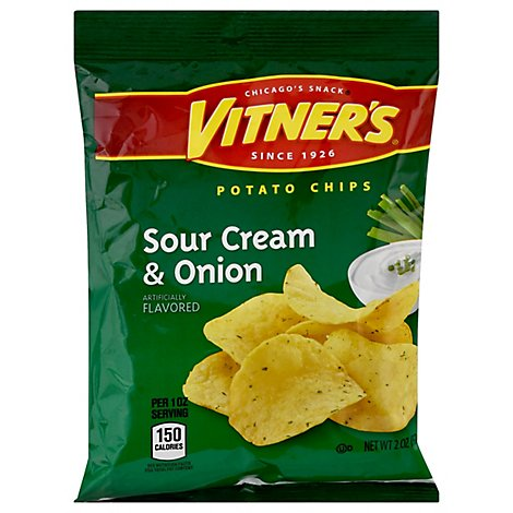Vitners Salt & Sour Potato Chips - 2 Oz