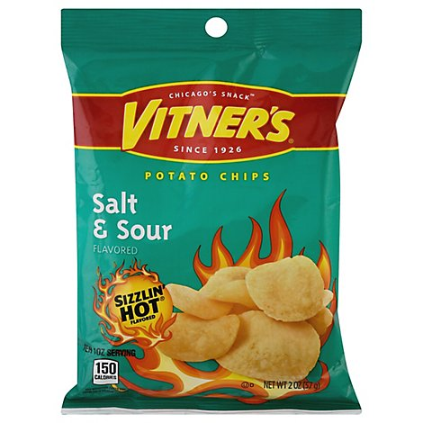Vitners Potato Chips Salt n Sour Bag - 2 Oz