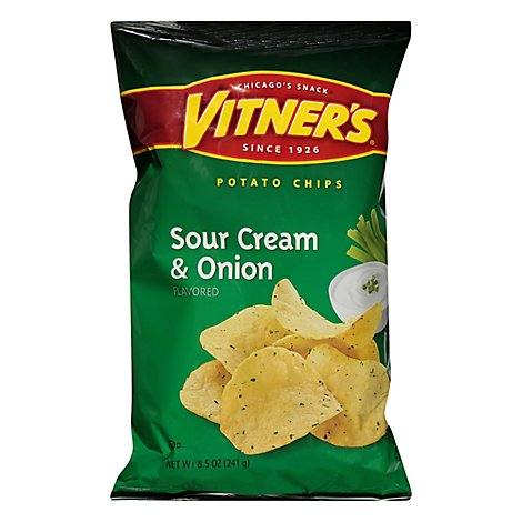 Vitners Big Bag Sour Cream & Onion Potato Chips - 8.5 Oz