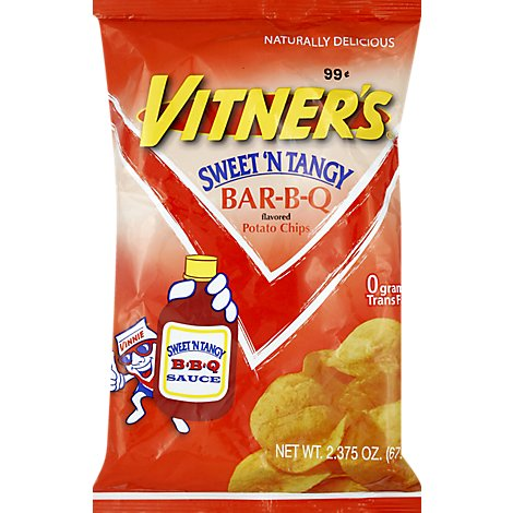 Vitners Sweet Baby Ray Barbecue Chips - 2 Oz