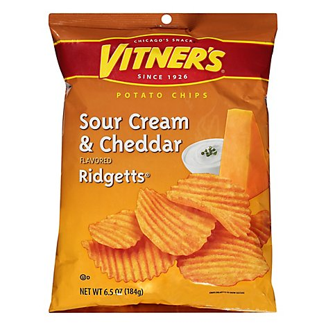 Vitners Cheddar & Sour Cream Ridgetts - 6.5 Oz