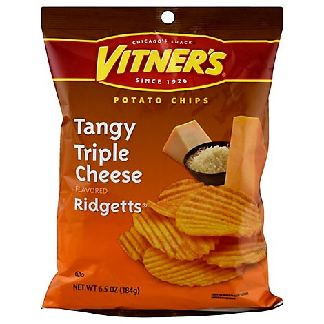Vitners Tangy Triple Cheese Potato Chips - 6.5 Oz