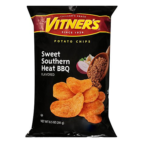 Vitners Sweet Southern Hot Barbeque Chips - 8.5 Oz