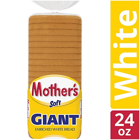 Mothers Bread Soft Giant Enriched White - 24 Oz