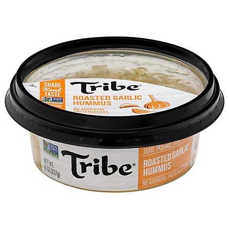 Tribe Hummus All Natural Roasted Garlic - 8 Oz