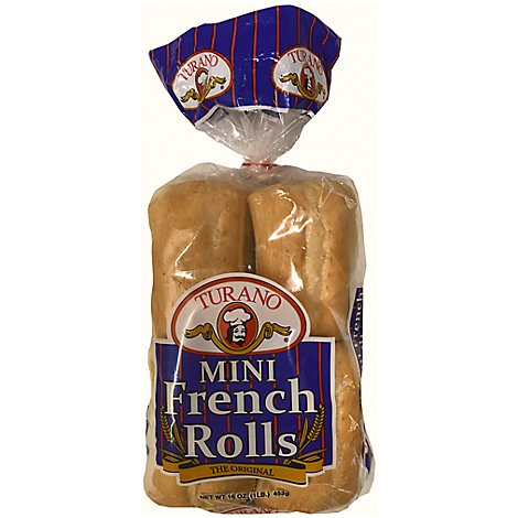 Turano Mini French Rolls - 16 Oz