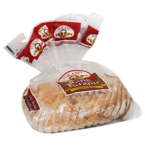 Turano  Bread Sliced Ready Italian - 32 Oz