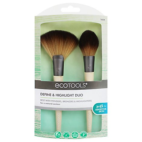 Ecotools Define & Highlight Duo Brush - Each