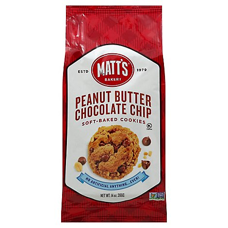 Matts Coo Cookies Chocolate Peanut Butter - 14 Oz