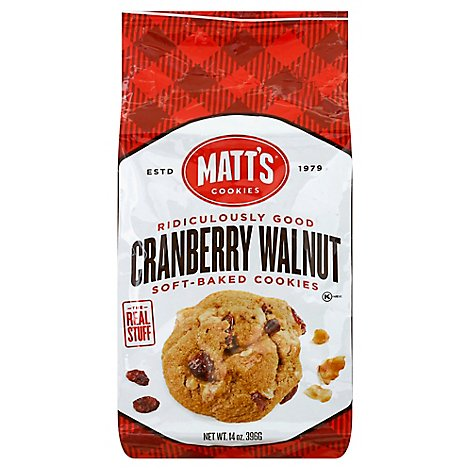 Matts Cookies Cranberry Walnut - 14 Oz