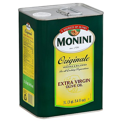 Monini Olive Oil Extra Virgin Originale 3 Liter - 101 Fl. Oz.