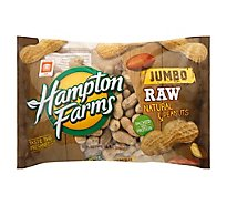 Hampton Farms Peanuts Natural Raw - 24 Oz