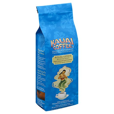 Kauai Koloa Estate Medium Roast Whole Bean Coffee - 10 Oz