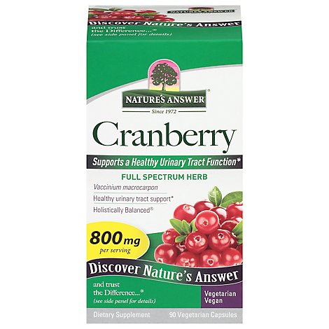 Natures Answer Cranberry Veg Capsules - 90 Count