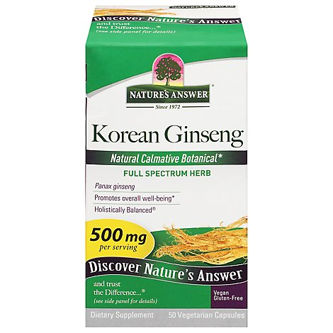 Natures Answer Herb Genseng Korea - 50 Count