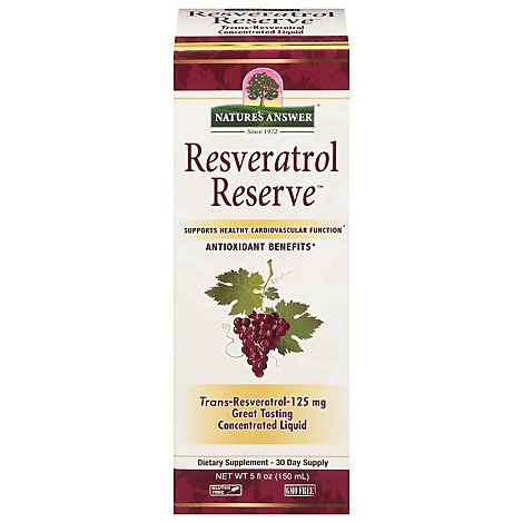 Natures Answer Resveatrol Re - 5 Oz