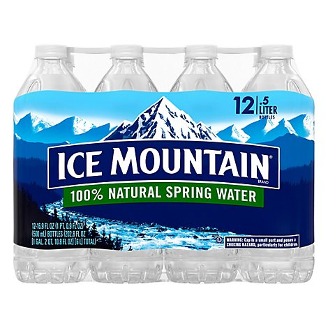 Ice Mountain Natural Spring Water - 6-33.8 Fl. Oz.