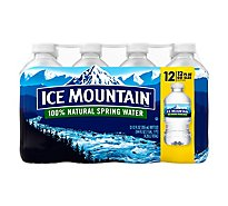 Ice Mountain 100% Natural Spring Water - 12-12 Fl. Oz.